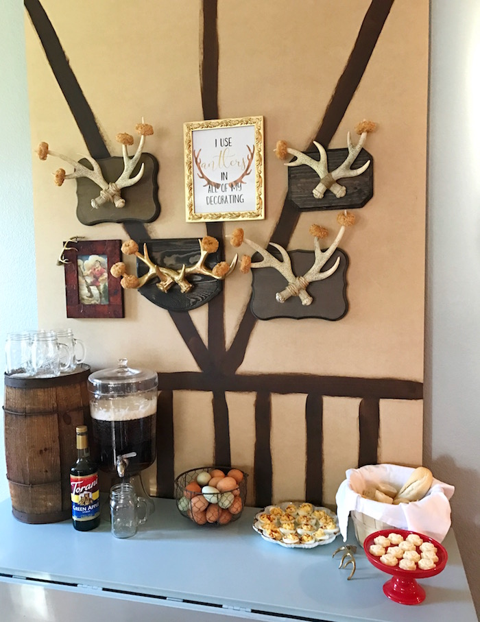 "Gaston's Tavern from a ""Be Our Guest"" Beauty and the Beast Party on Kara's Party Ideas 