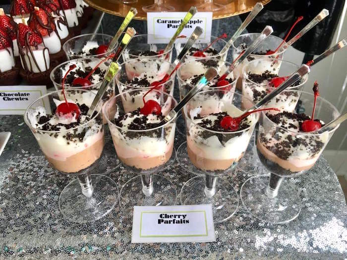 """Cherry Parfaits from a """"May Their Fourth Be With You"""" Star Wars 4th Birthday Party for Twins on Kara's Party Ideas 