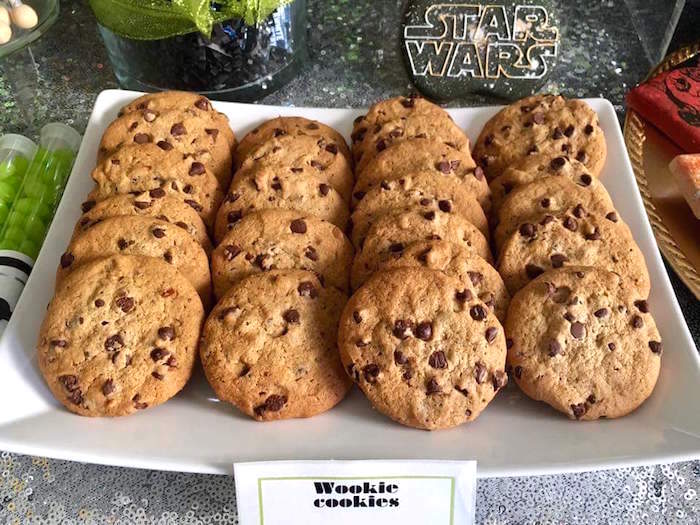 """Wookie cookies from a """"May Their Fourth Be With You"""" Star Wars 4th Birthday Party for Twins on Kara's Party Ideas 