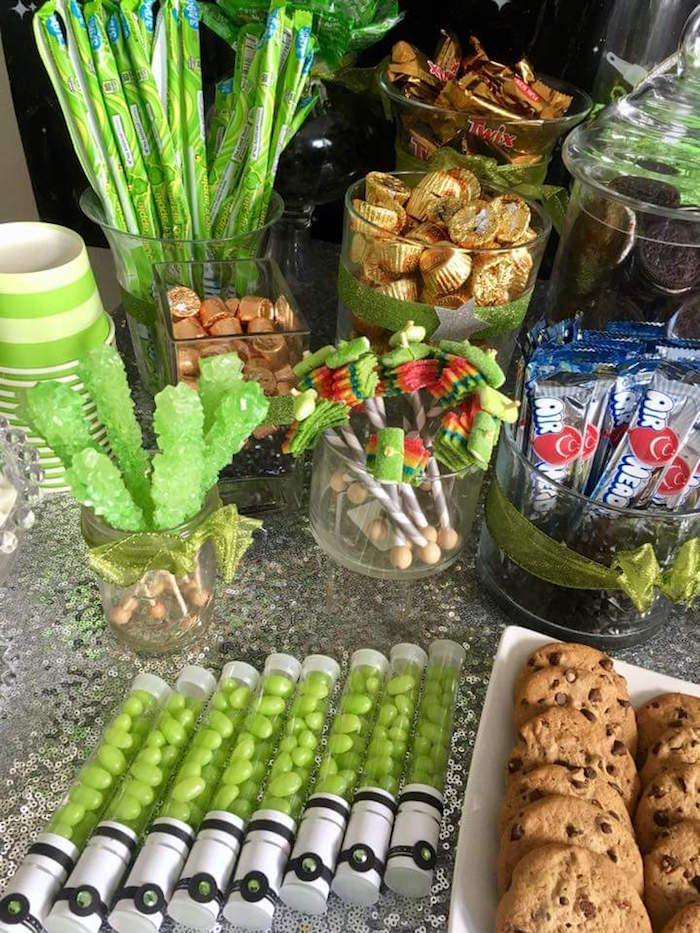 """Candy and sweets from a """"May Their Fourth Be With You"""" Star Wars 4th Birthday Party for Twins on Kara's Party Ideas 