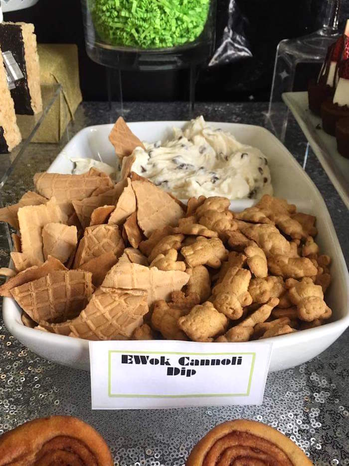 """EWok Cannoli Dip from a """"May Their Fourth Be With You"""" Star Wars 4th Birthday Party for Twins on Kara's Party Ideas 
