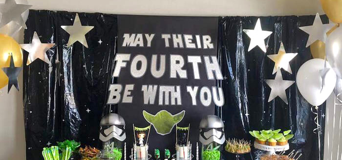 """May Their Fourth Be With You"" Star Wars 4th Birthday Party for Twins on Kara's Party Ideas 