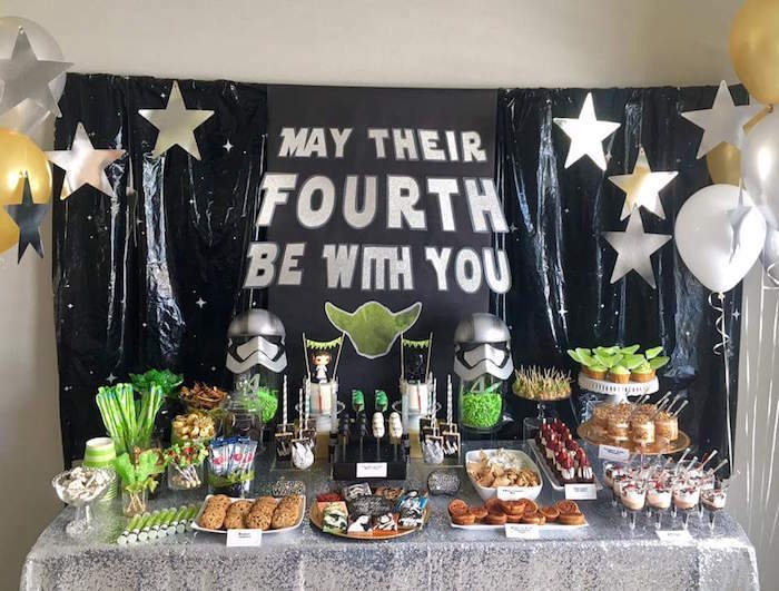 May Their Fourth Be With You Star Wars 4th Birthday Party For Twins On