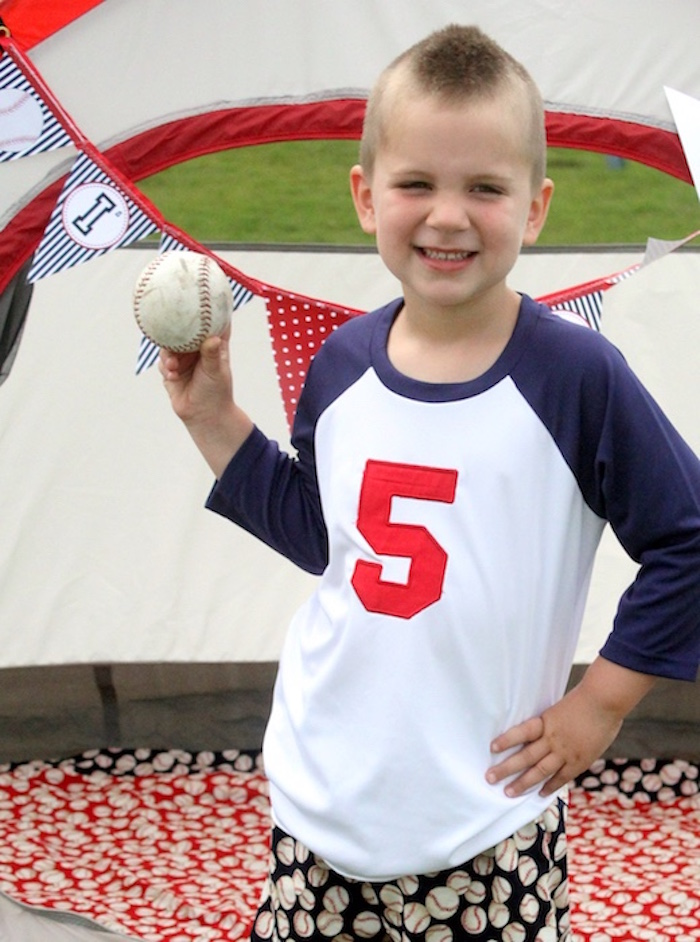 Slugger Sleepover Baseball Birthday Party on Kara's Party Ideas | KarasPartyIdeas.com