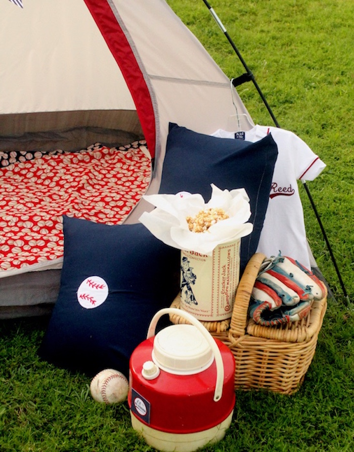Camp details from a Slugger Sleepover Baseball Birthday Party on Kara's Party Ideas | KarasPartyIdeas.com