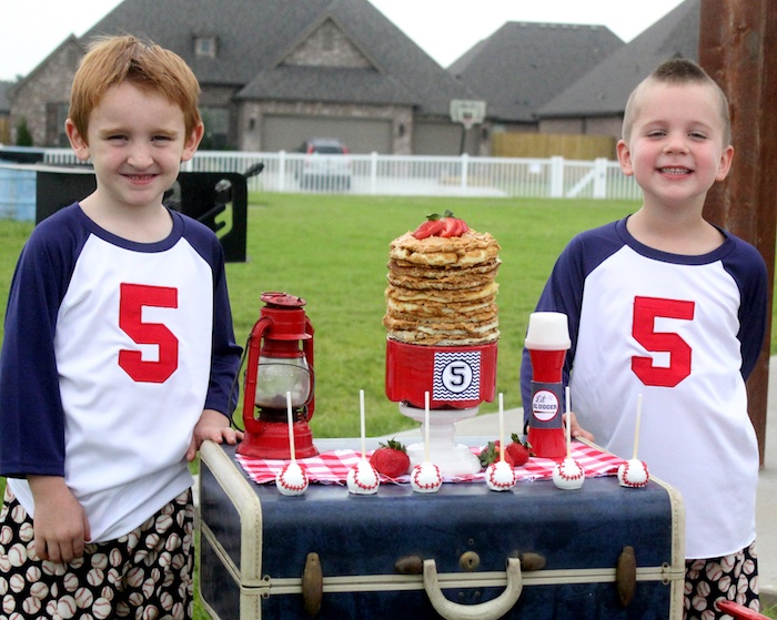 "Minor Leaguers from a ""Slugger Sleepover"" Baseball Birthday Party on Kara's Party Ideas 
