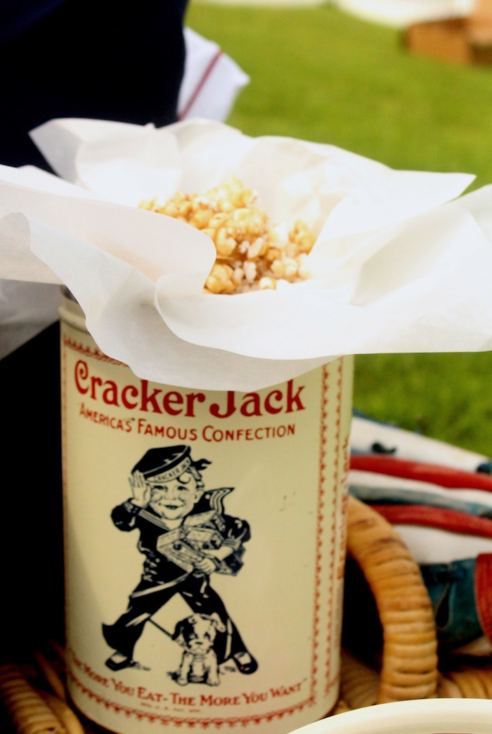 "Popcorn from a ""Slugger Sleepover"" Baseball Birthday Party on Kara's Party Ideas 