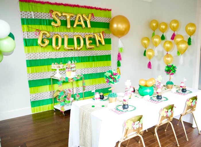 """Stay Golden"" St. Patrick's Day Party on Kara's Party Ideas 