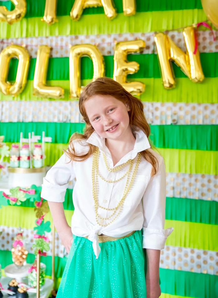 "St. Patricks Day worn at a ""Stay Golden"" St. Patrick's Day Party on Kara's Party Ideas 