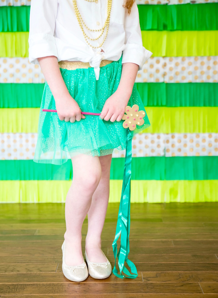 "Tassel wand from a ""Stay Golden"" St. Patrick's Day Party on Kara's Party Ideas 