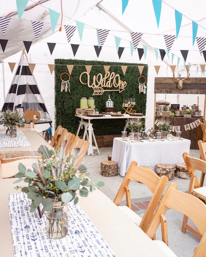 """Wild One"" Bohemian Birthday Party on Kara's Party Ideas 