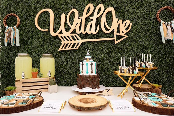 Karas Party Ideas Wild One Bohemian Birthday
