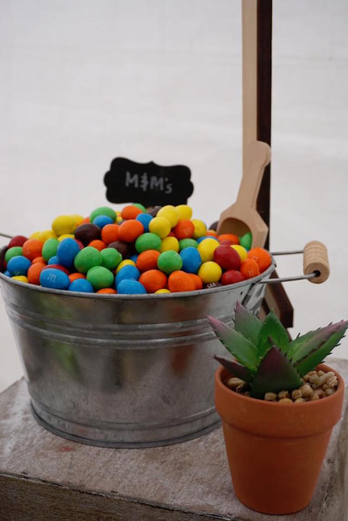 "M&M's from a ""Wild One"" Bohemian Birthday Party on Kara's Party Ideas 