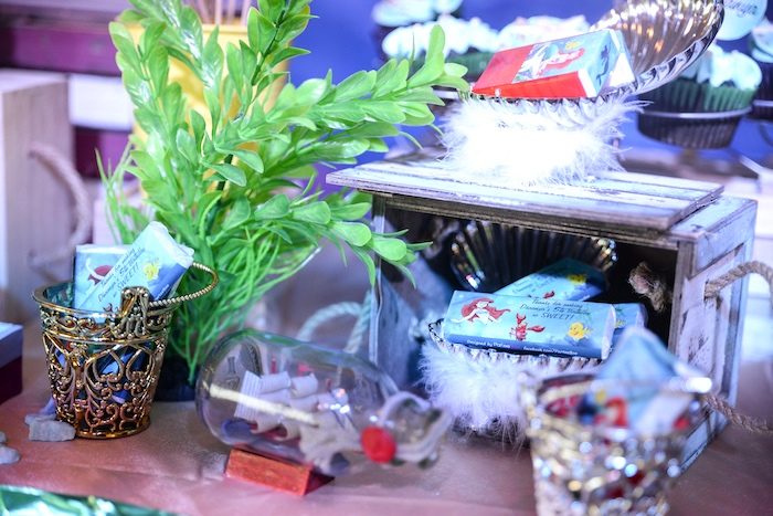 Under the Sea decor from an Ariel the Little Mermaid Birthday Party on Kara's Party Ideas | KarasPartyIdeas.com (15)