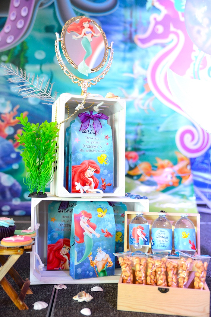 Little Mermaid favors from an Ariel the Little Mermaid Birthday Party on Kara's Party Ideas | KarasPartyIdeas.com (14)