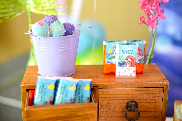 Favors from an Ariel the Little Mermaid Birthday Party on Kara's Party Ideas | KarasPartyIdeas.com (12)