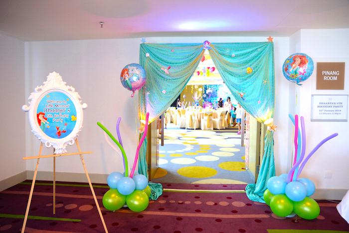 Entrance to an Ariel the Little Mermaid Birthday Party on Kara's Party Ideas | KarasPartyIdeas.com (4)
