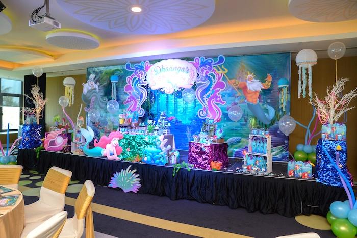 Party Spread From An Ariel The Little Mermaid Birthday On Karas Ideas