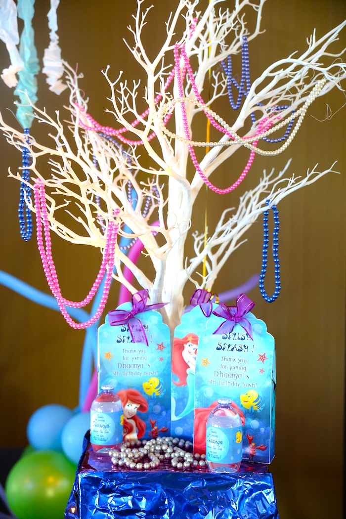 Bead tree from an Ariel the Little Mermaid Birthday Party on Kara's Party Ideas | KarasPartyIdeas.com (22)