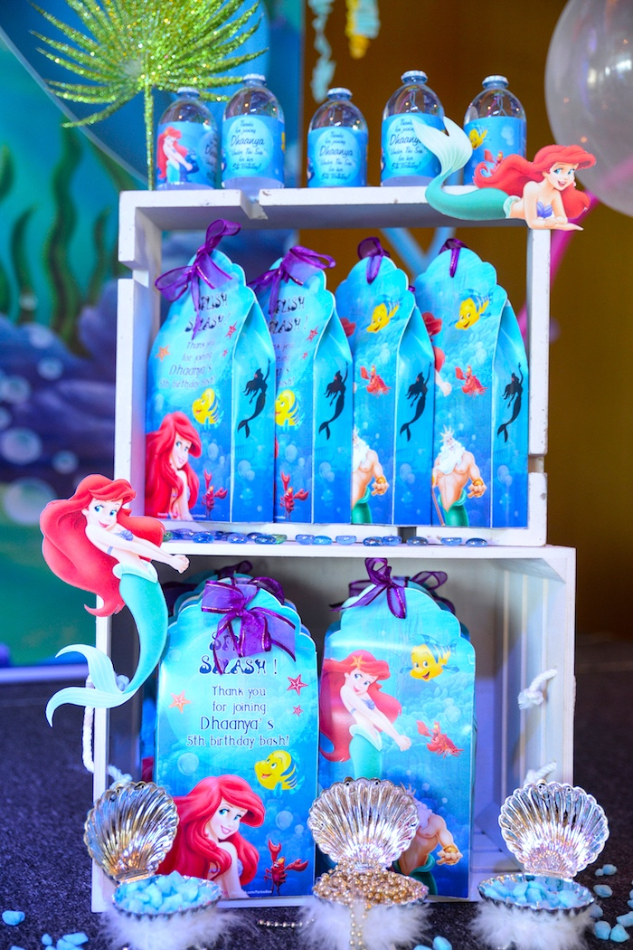 Kara 39 s party ideas ariel the little mermaid birthday party for Ariel party decoration ideas