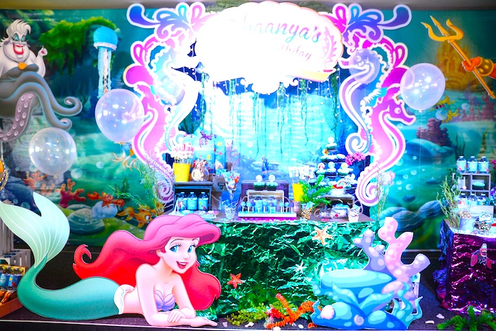 Kara 39 s party ideas ariel the little mermaid birthday party for Ariel birthday decoration ideas