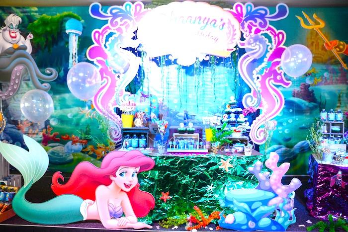 Ariel the Little Mermaid Birthday Party on Kara's Party Ideas | KarasPartyIdeas.com (20)