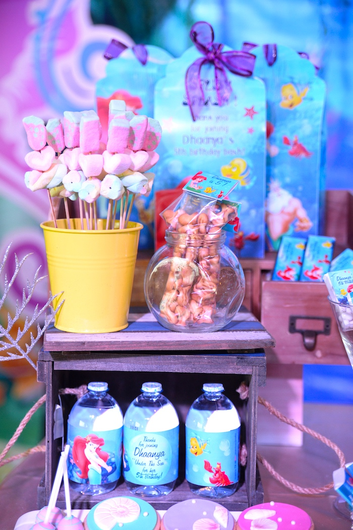 Sweets + favors from an Ariel the Little Mermaid Birthday Party on Kara's Party Ideas | KarasPartyIdeas.com (18)