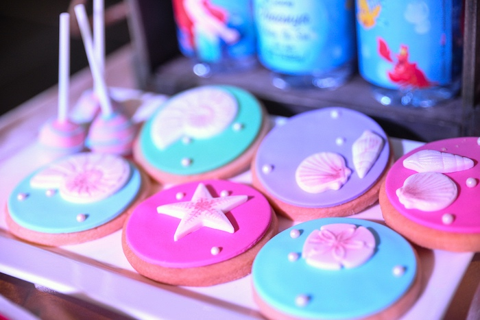 Under the Sea Cookies from an Ariel the Little Mermaid Birthday Party on Kara's Party Ideas | KarasPartyIdeas.com (16)
