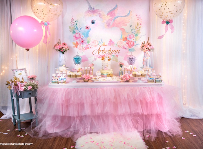 Baby Unicorn 1st Birthday Party On Karau0027s Party Ideas | KarasPartyIdeas.com  (20)