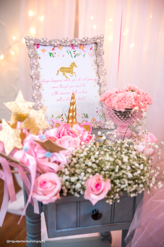 Blooms from a Baby Unicorn 1st Birthday Party on Kara's Party Ideas | KarasPartyIdeas.com (17)