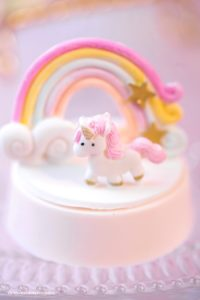 Unicorn chocolate covered Oreo from a Baby Unicorn 1st Birthday Party on Kara's Party Ideas | KarasPartyIdeas.com (13)