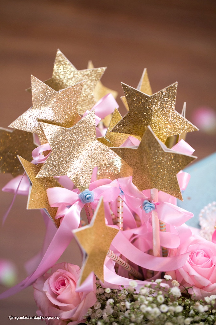 Star wands from a Baby Unicorn 1st Birthday Party on Kara's Party Ideas | KarasPartyIdeas.com (6)