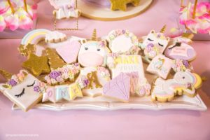 Cookies from a Baby Unicorn 1st Birthday Party on Kara's Party Ideas | KarasPartyIdeas.com (28)