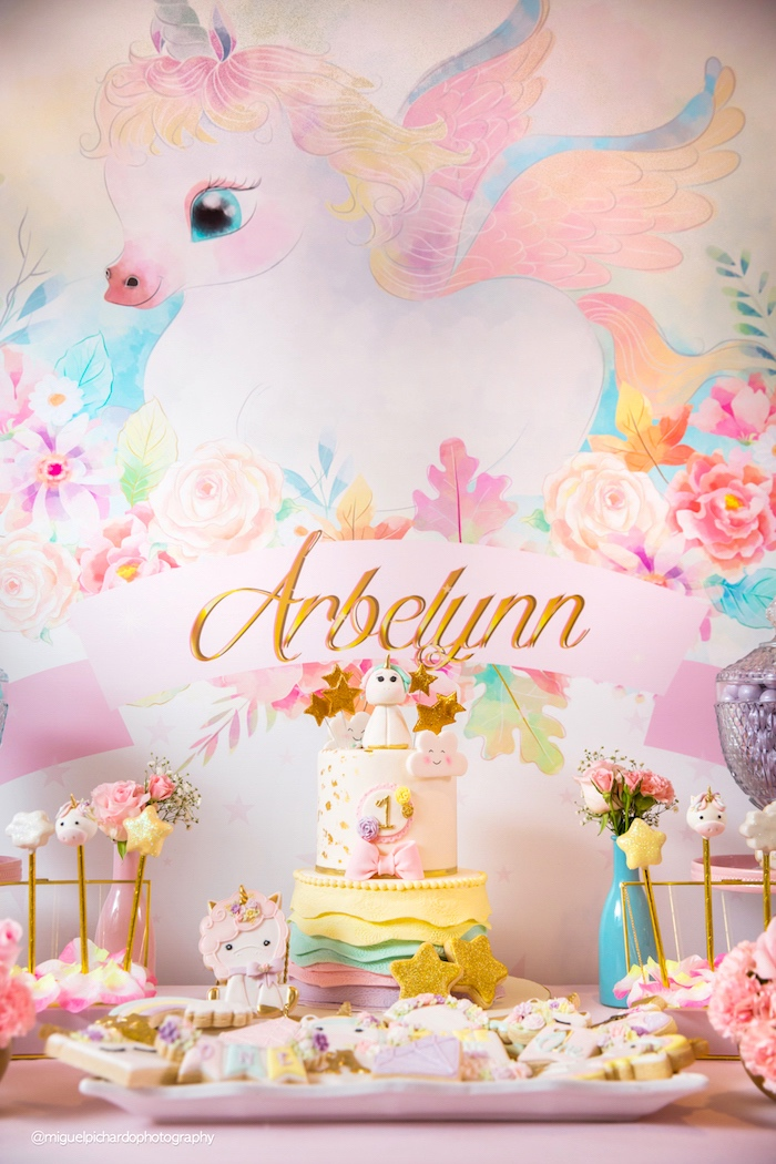 Baby Unicorn 1st Birthday Party on Kara's Party Ideas | KarasPartyIdeas.com (27)