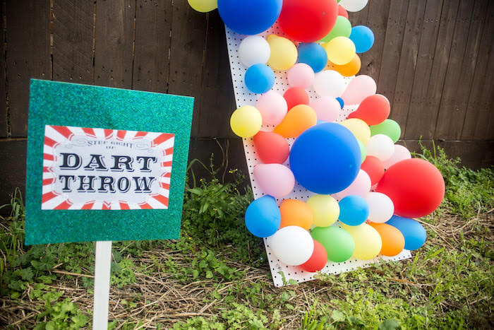 Dart Throw Game From A Backyard Carnival Birthday Party On Karas Ideas