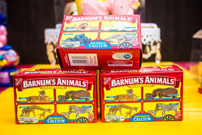 Animal crackers from a Backyard Carnival Birthday Party on Kara's Party Ideas | KarasPartyIdeas.com (19)