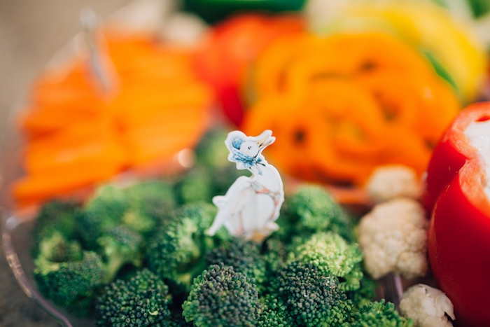 Jemima Puddleduck broccoli from a Beatrix Potter's Peter Rabbit Inspired Birthday Party on Kara's Paty Ideas | KarasPartyIdeas.com (14)