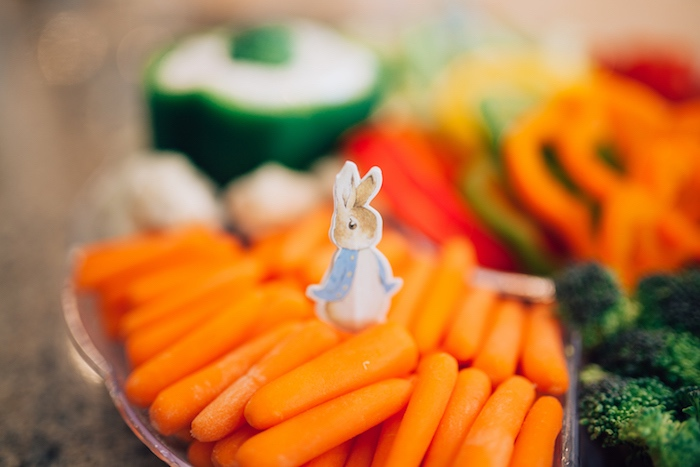 Peter Rabbit carrots from a Beatrix Potter's Peter Rabbit Inspired Birthday Party on Kara's Paty Ideas | KarasPartyIdeas.com (13)