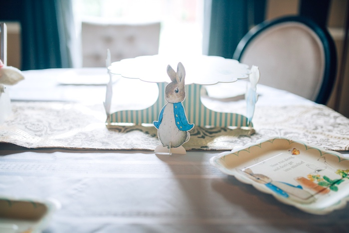 Mini Peter Rabbit standee from a Beatrix Potter's Peter Rabbit Inspired Birthday Party on Kara's Paty Ideas | KarasPartyIdeas.com (9)