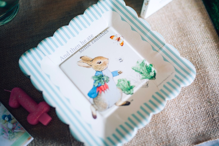 Peter Rabbit partyware from a Beatrix Potter's Peter Rabbit Inspired Birthday Party on Kara's Paty Ideas | KarasPartyIdeas.com (8)
