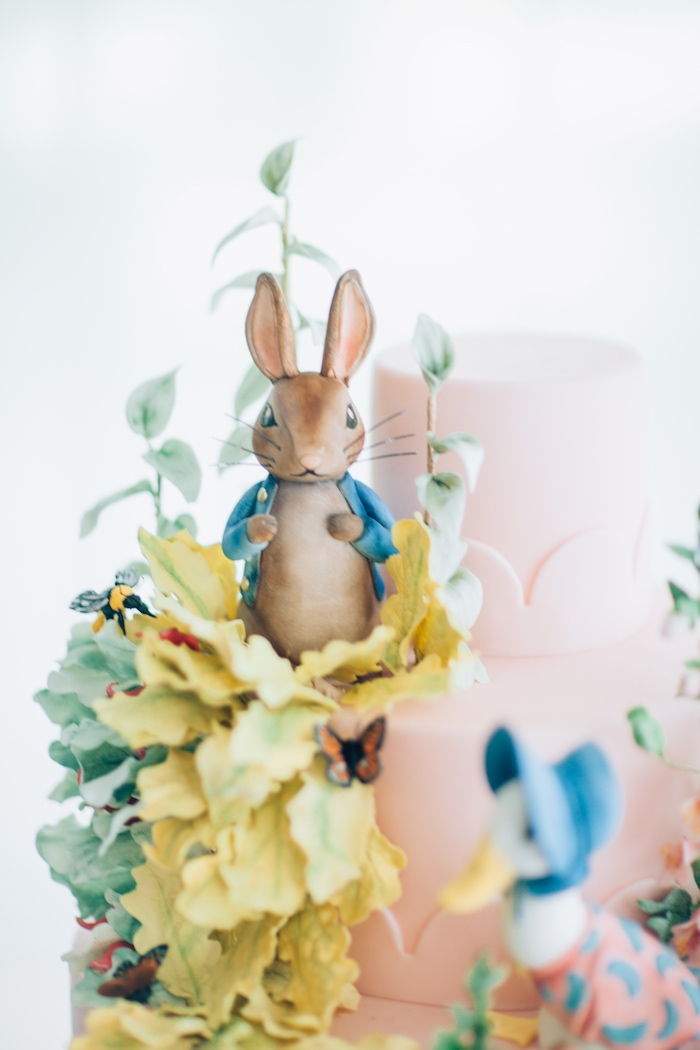 Peter Rabbit sugar figurine from a Beatrix Potter's Peter Rabbit Inspired Birthday Party on Kara's Paty Ideas | KarasPartyIdeas.com (32)