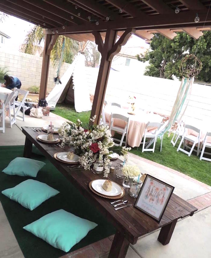 Boho Chic Birthday Party on Kara's Party Ideas | KarasPartyIdeas.com (12)