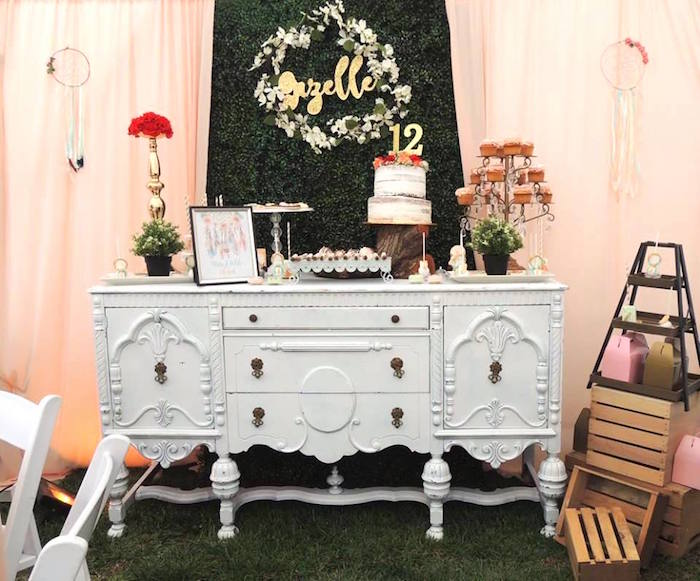 Boho Chic Birthday Party on Kara's Party Ideas | KarasPartyIdeas.com (9)