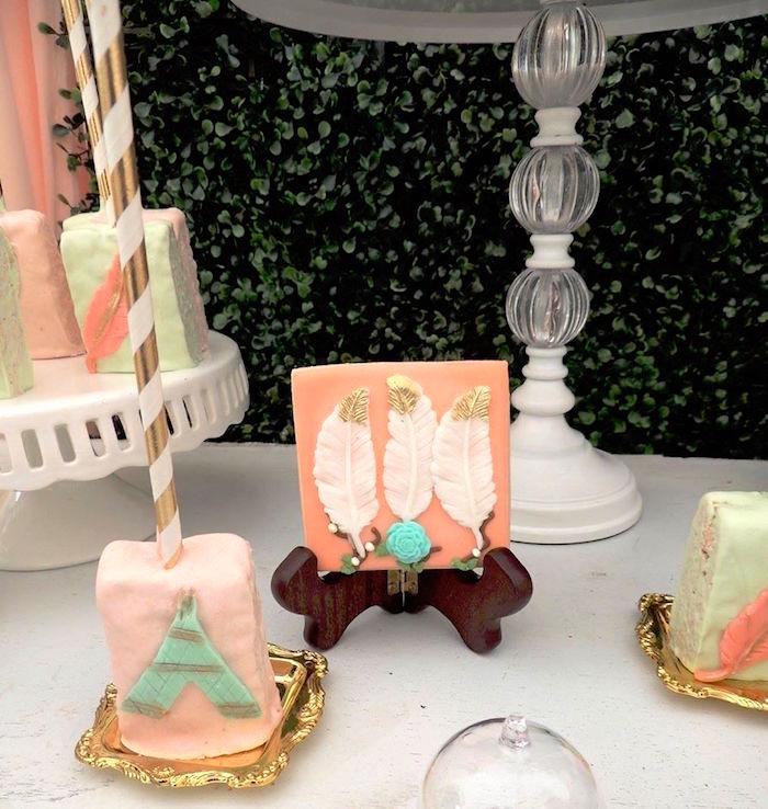 Boho sweets from a Boho Chic Birthday Party on Kara's Party Ideas   KarasPartyIdeas.com (4)