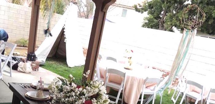 Boho Chic Birthday Party on Kara's Party Ideas | KarasPartyIdeas.com (1)