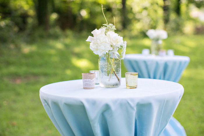 Table from a Bottles and Burlap Baby Shower on Kara's Party Ideas | KarasPartyIdeas.com (30)