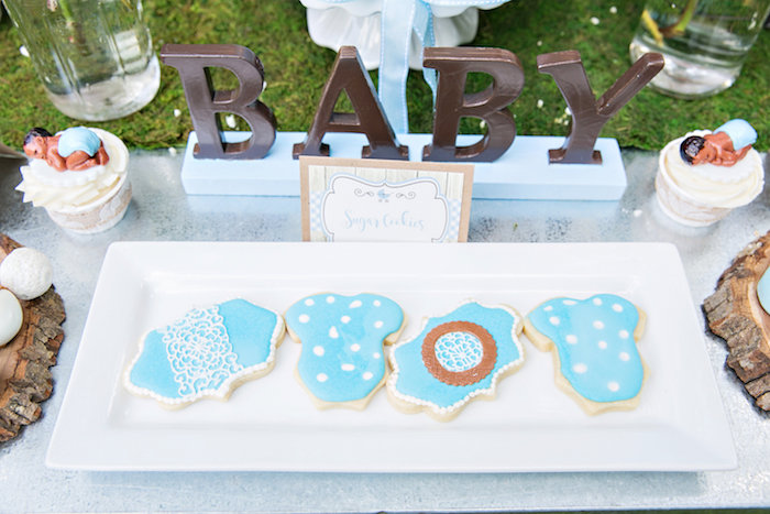 Cookies from a Bottles and Burlap Baby Shower on Kara's Party Ideas | KarasPartyIdeas.com (22)