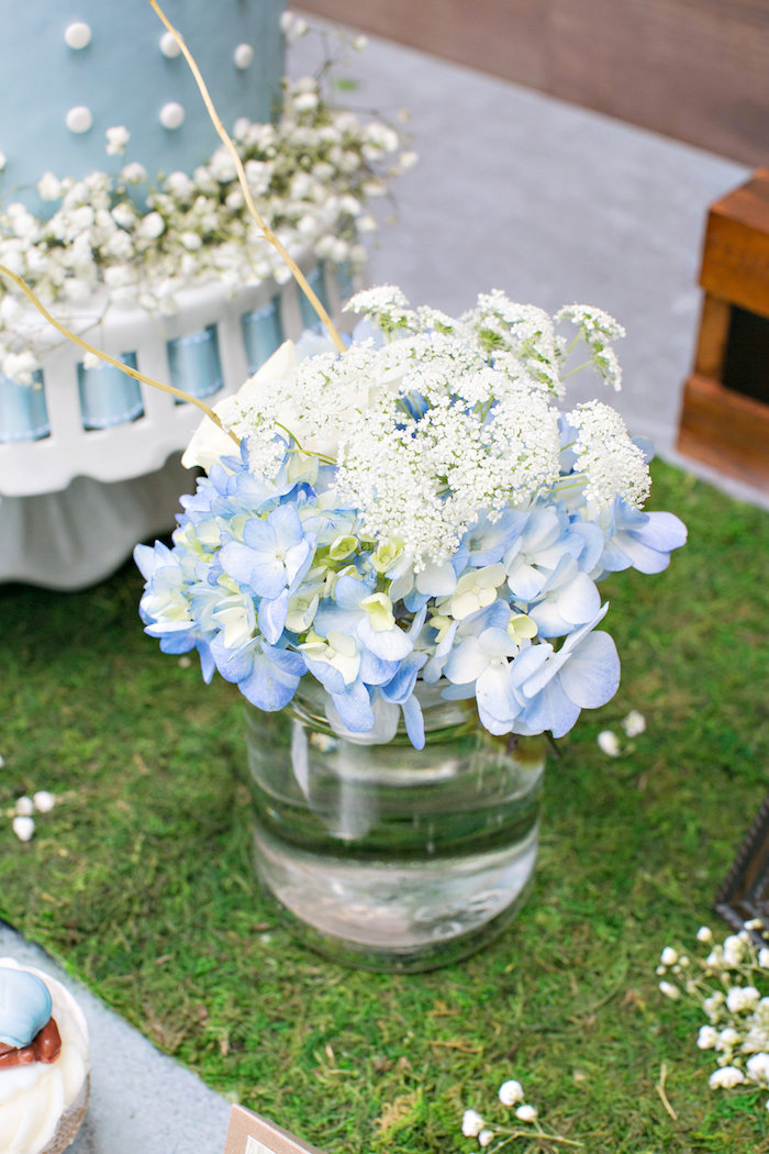 blooms from a bottles and burlap baby shower on kara 39 s party ideas