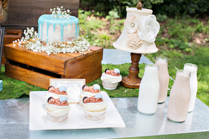 Cakescape from a Bottles and Burlap Baby Shower on Kara's Party Ideas | KarasPartyIdeas.com (6)