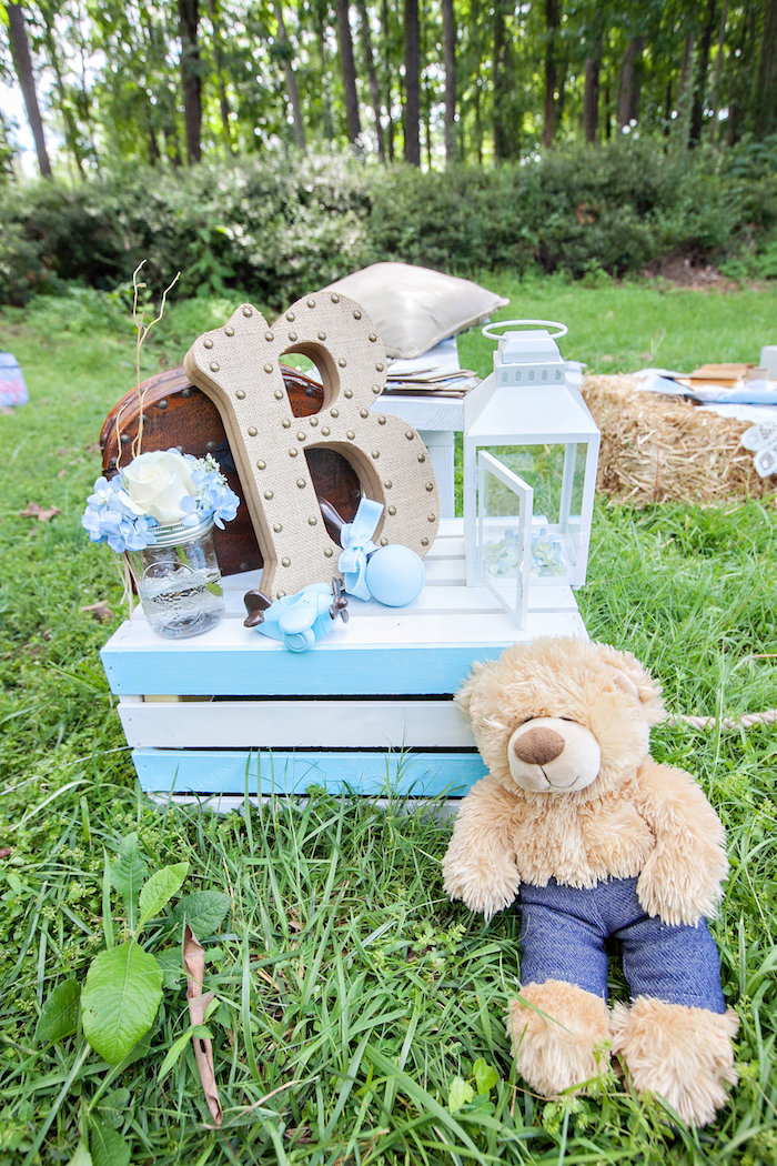 Decor from a Bottles and Burlap Baby Shower on Kara's Party Ideas | KarasPartyIdeas.com (40)